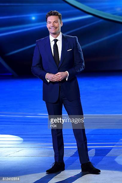 Host Ryan Seacrest onstage at FOX's American Idol Season 15 on February 25 2016 in Hollywood California