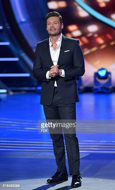 Host Ryan Seacrest onstage at FOX's American Idol Season 15 on March 31 2016 in Hollywood California