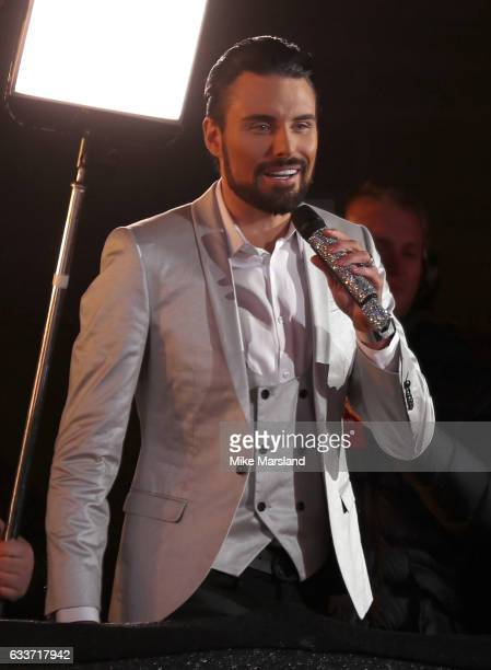 Host Rylan Clark during the final of Celebrity Big Brother on February 3 2017 in Borehamwood United Kingdom