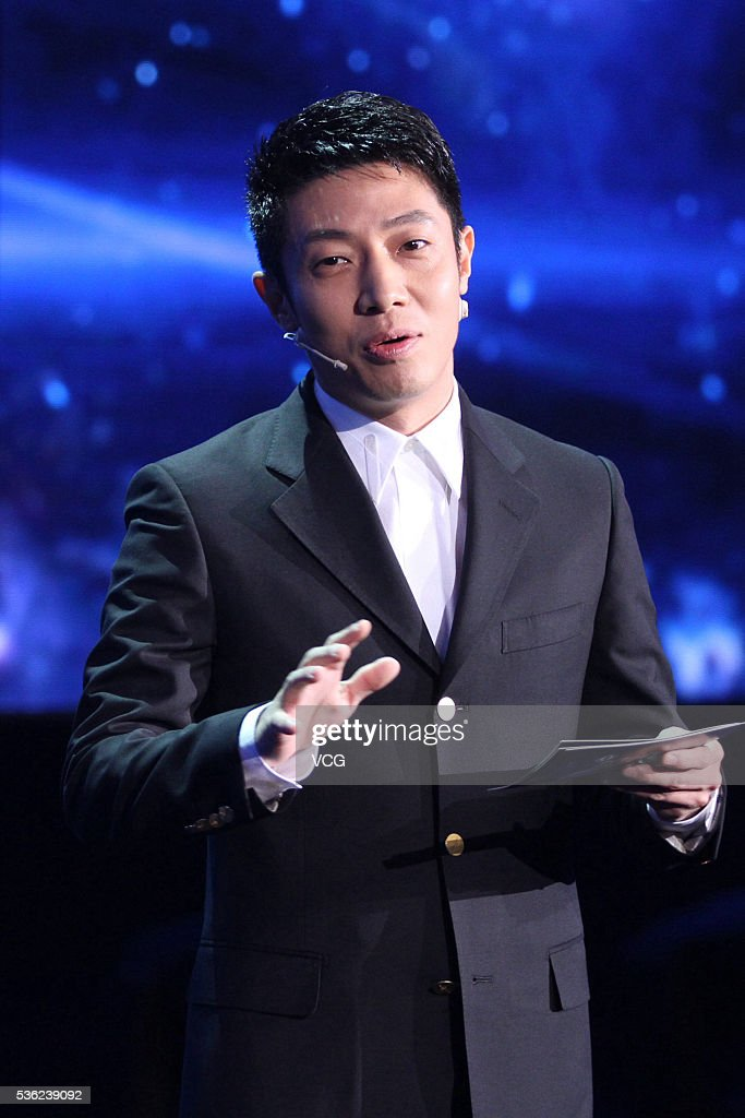 Host Sa Beining attends the press conference of an online program on May 31, 2016 in Beijing, China.