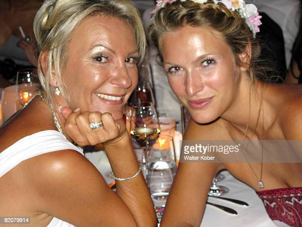 TV host Sabine Christiansen and actress Mia Florentine Weiss attend the wedding celebrations of Udo Walz and his partner Carsten Thamm at the China...
