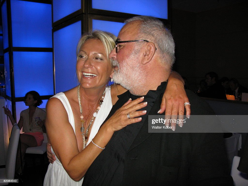 TV host Sabine Christiansen and Udo Walz attend the wedding celebrations of him and his partner Carsten Thamm at the China Club on July 26, 2008 in Berlin, Germany .