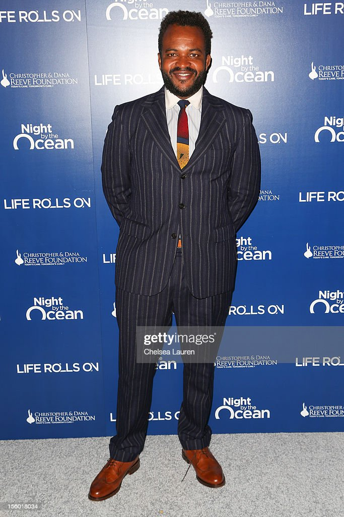 Host <a gi-track='captionPersonalityLinkClicked' href=/galleries/search?phrase=Sal+Masekela&family=editorial&specificpeople=572654 ng-click='$event.stopPropagation()'>Sal Masekela</a> arrives at the Life Rolls On foundation's 9th annual 'Night by the Ocean' gala at Ritz Carlton Hotel on November 10, 2012 in Marina del Rey, California.