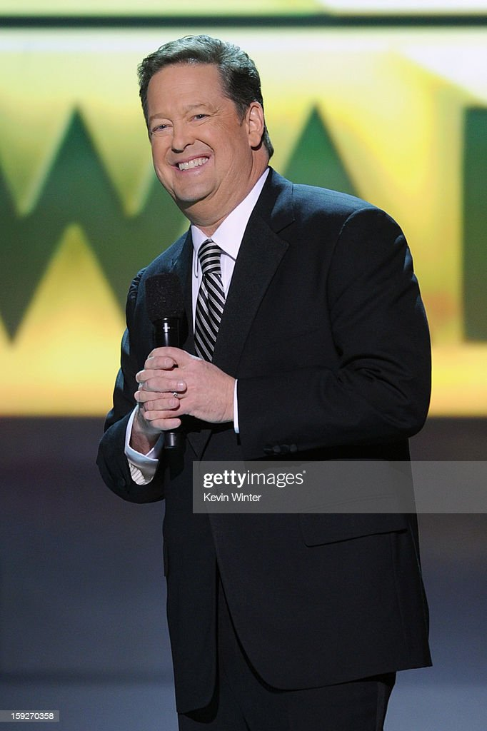 Host Sam Rubin speaks onstage at the 18th Annual Critics' Choice Movie Awards held at Barker Hangar on January 10, 2013 in Santa Monica, California.