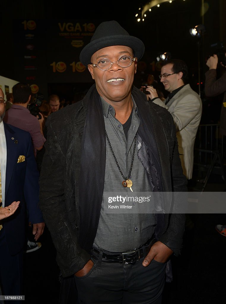 Host Samuel L Jackson arrives at Spike TV's 10th annual Video Game Awards at Sony Pictures Studios on December 7 2012 in Culver City California