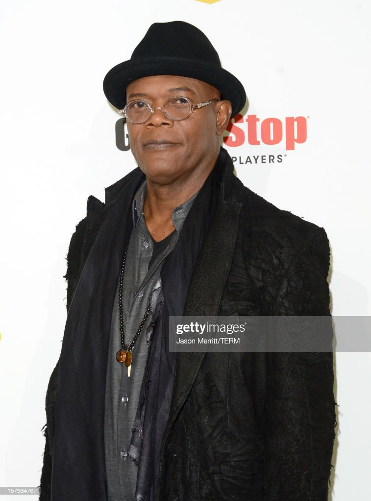 Host <a gi-track='captionPersonalityLinkClicked' href=/galleries/search?phrase=Samuel+L.+Jackson&family=editorial&specificpeople=167234 ng-click='$event.stopPropagation()'>Samuel L. Jackson</a> arrives at Spike TV's 10th annual Video Game Awards at Sony Pictures Studios on December 7, 2012 in Culver City, California.