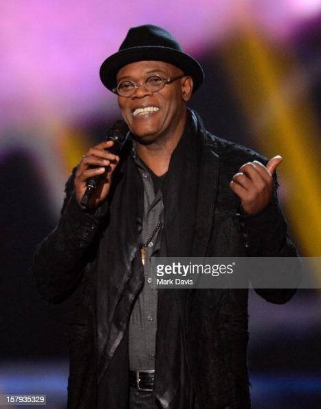 Host Samuel L Jackson onstage during Spike TV's 10th annual Video Game Awards at Sony Studios on December 7 2012 in Culver City California