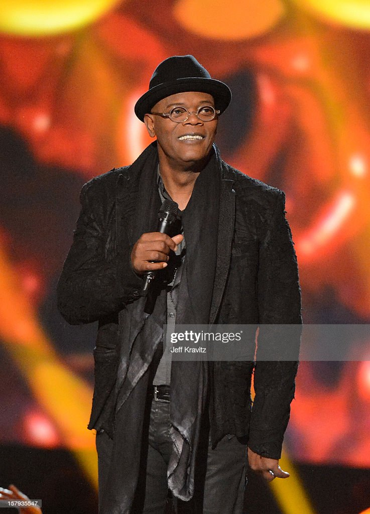 Host <a gi-track='captionPersonalityLinkClicked' href=/galleries/search?phrase=Samuel+L.+Jackson&family=editorial&specificpeople=167234 ng-click='$event.stopPropagation()'>Samuel L. Jackson</a> speaks onstage during Spike TV's 10th annual Video Game Awards at Sony Pictures Studios on December 7, 2012 in Culver City, California.