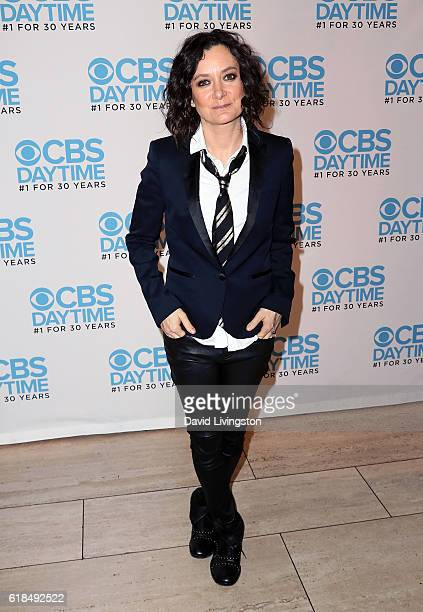 TV host Sara Gilbert attends 'The Talk' Panel presented by CBS Daytime at The Paley Center for Media on October 26 2016 in Beverly Hills California