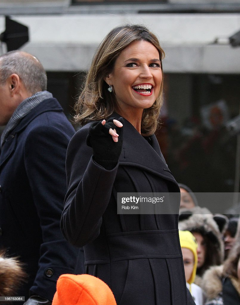 Host Savannah Guthrie appears on NBC's 'Today' at Rockefeller Plaza on November 20, 2012 in New York City.