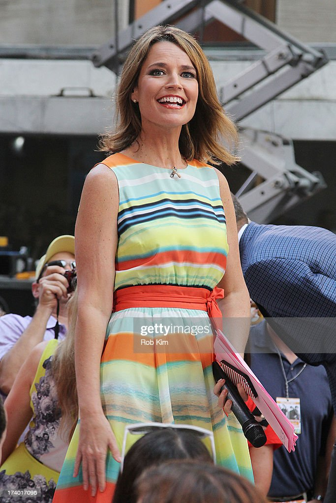 Host Savannah Guthrie on NBC's 'Today' at the NBC's TODAY Show on July 19, 2013 in New York, New York.