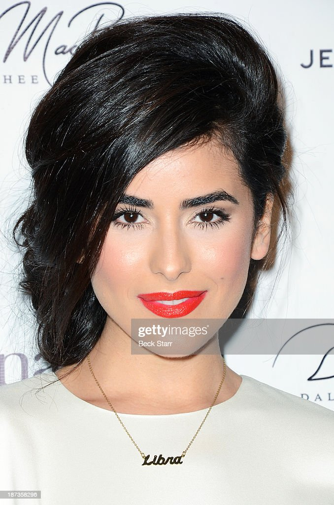 Host Sazan Barzani arrives at Canadian Consul General honors fashion designer Dalia MacPhee on November 7, 2013 in Los Angeles, California.