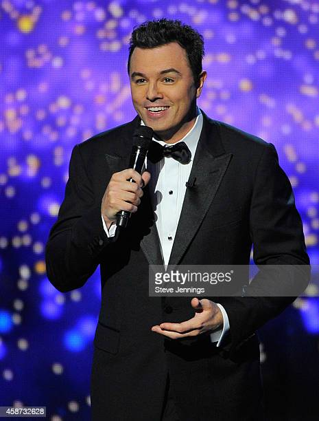 Host Seth MacFarlane speaks onstage during the Breakthrough Prize Awards Ceremony Hosted By Seth MacFarlane at NASA Ames Research Center on November...