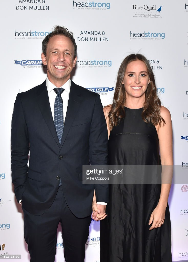 Host Seth Meyers and Alexi Ashe attend the Headstrong Gala 2017 at Pier 60, Chelsea Piers on October 16, 2017 in New York City.