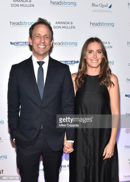 Host Seth Meyers and Alexi Ashe attend the Headstrong Gala 2017 at Pier 60 Chelsea Piers on October 16 2017 in New York City