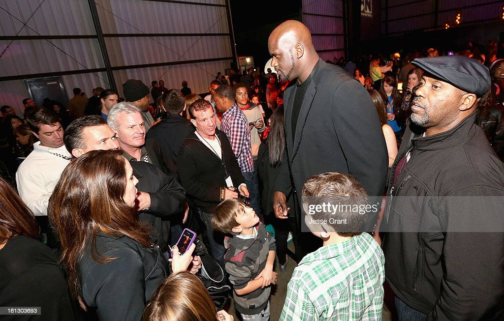 Host <a gi-track='captionPersonalityLinkClicked' href=/galleries/search?phrase=Shaquille+O%27Neal&family=editorial&specificpeople=201463 ng-click='$event.stopPropagation()'>Shaquille O'Neal</a> attends the Third Annual Hall of Game Awards hosted by Cartoon Network at Barker Hangar on February 9, 2013 in Santa Monica, California. 23270_005_JG_0060.JPG