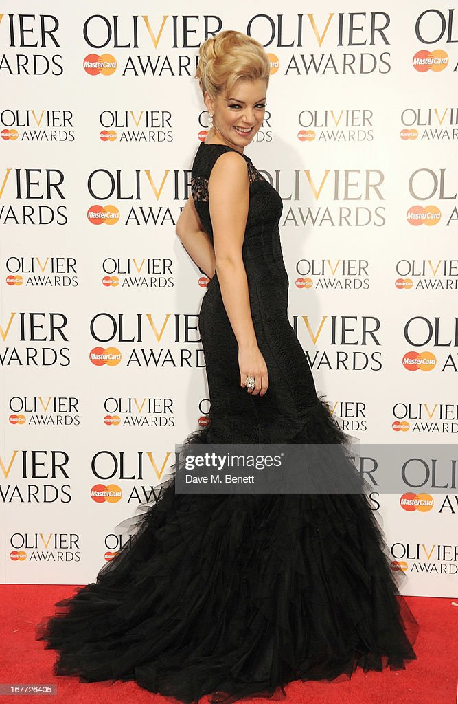 Host Sheridan Smith poses in the press room at The Laurence Olivier Awards 2013 at The Royal Opera House on April 28, 2013 in London, England.