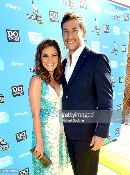 Host Sophia Bush and Google executive Dan Fredinburg arrive at the DoSomethingorg and VH1's 2013 Do Something Awards at Avalon on July 31 2013 in...