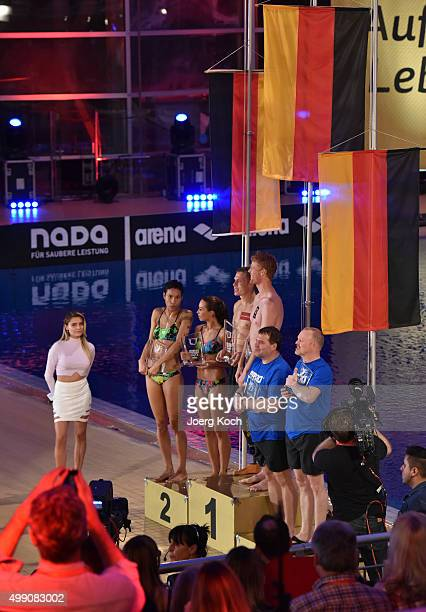 TV host Sophia Thomalla watches actress Annabelle Mandeng Model Ronja Hilbig Athlete Markus Rehm beach volleyball player Jonas Reckermann and...