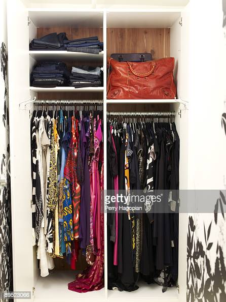 Host Stacy London of 'What Not To Wear' closet is photographed for OK Magazine on June 22 2009 in her apartment in New York City