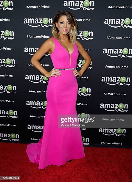 Host Stephanie Bauer attends Amazon Video's 67th Primetime Emmy Celebration at The Standard Hotel on September 20 2015 in Los Angeles California