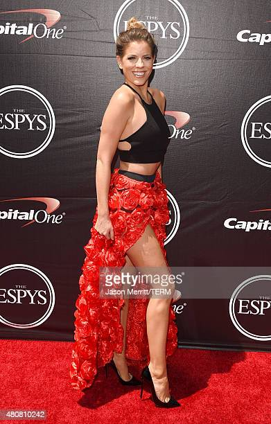 TV host Stephanie Bauer attends The 2015 ESPYS at Microsoft Theater on July 15 2015 in Los Angeles California