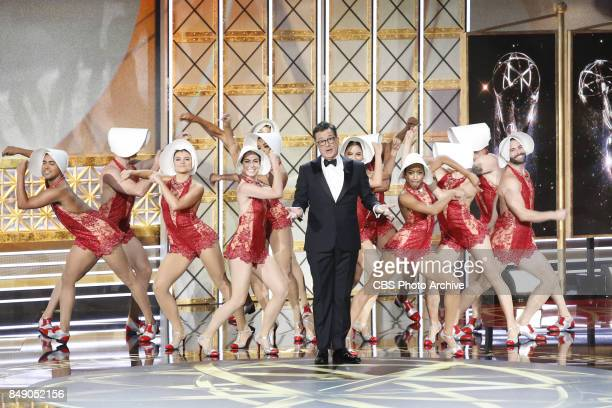Host Stephen Colbert hosts at the 69TH PRIMETIME EMMY AWARDS LIVE from the Microsoft Theater in Los Angeles Sunday Sept 17 on the CBS Television...