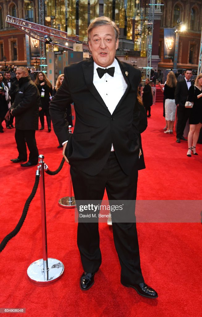 Host Stephen Fry attends the 70th EE British Academy Film Awards (BAFTA) at Royal Albert Hall on February 12, 2017 in London, England.