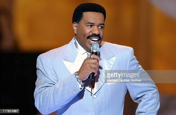 Host Steve Harvey during 2003 Essence Awards Show at The Kodak Theater in Los Angeles California United States