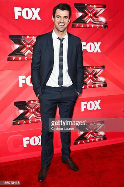 Host Steve Jones arrives at 'The X Factor' press conference at CBS Television City on December 19 2011 in Los Angeles California