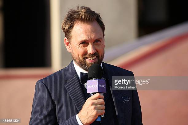 Host Steven Gaetjen speaks during the world premiere of 'Mission Impossible Rogue Nation' at the Opera House on July 23 2015 in Vienna Austria