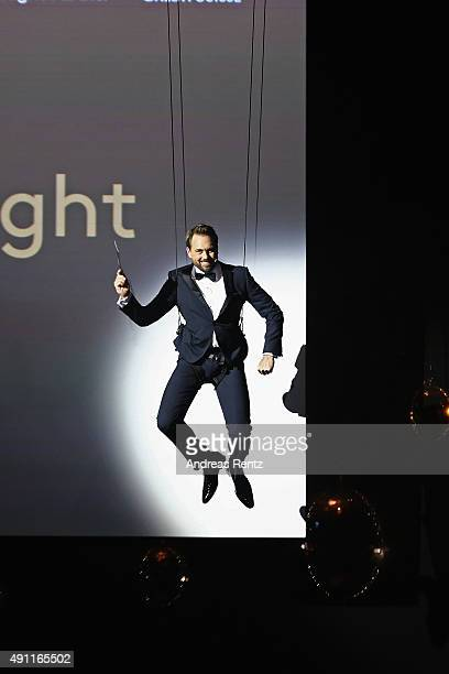 Host Steven Gaetjen speaks onstage at the Award Night during the Zurich Film Festival on October 3 2015 in Zurich Switzerland