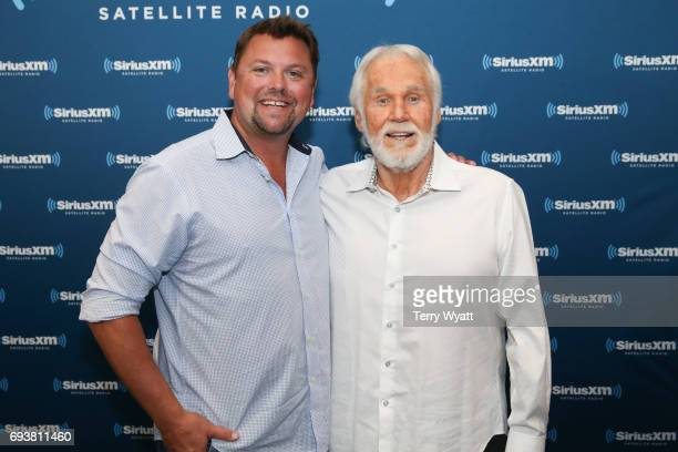 Host Storme Warren and Singersongwriter Kenny Rogers attend SiriusXM's 'Town Hall' With Kenny Rogers at SiriusXM's Music City Theatre on June 8 2017...
