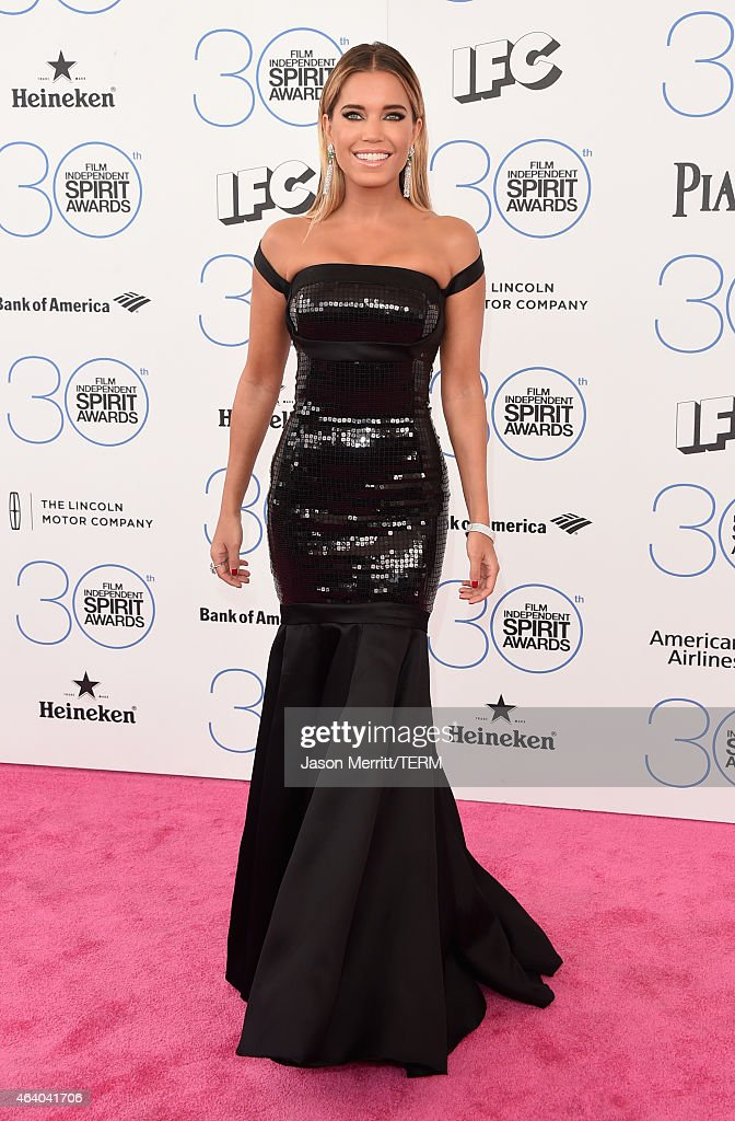 TV Host <a gi-track='captionPersonalityLinkClicked' href=/galleries/search?phrase=Sylvie+Meis&family=editorial&specificpeople=538310 ng-click='$event.stopPropagation()'>Sylvie Meis</a> attends the 2015 Film Independent Spirit Awards at Santa Monica Beach on February 21, 2015 in Santa Monica, California.