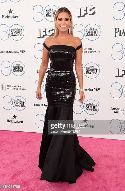 Host Sylvie Meis attends the 2015 Film Independent Spirit Awards at Santa Monica Beach on February 21 2015 in Santa Monica California