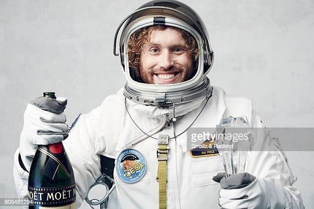 Host T J Miller poses for a portrait during the 21st Annual Critics' Choice Awards at Barker Hangar on January 17 2016 in Santa Monica California