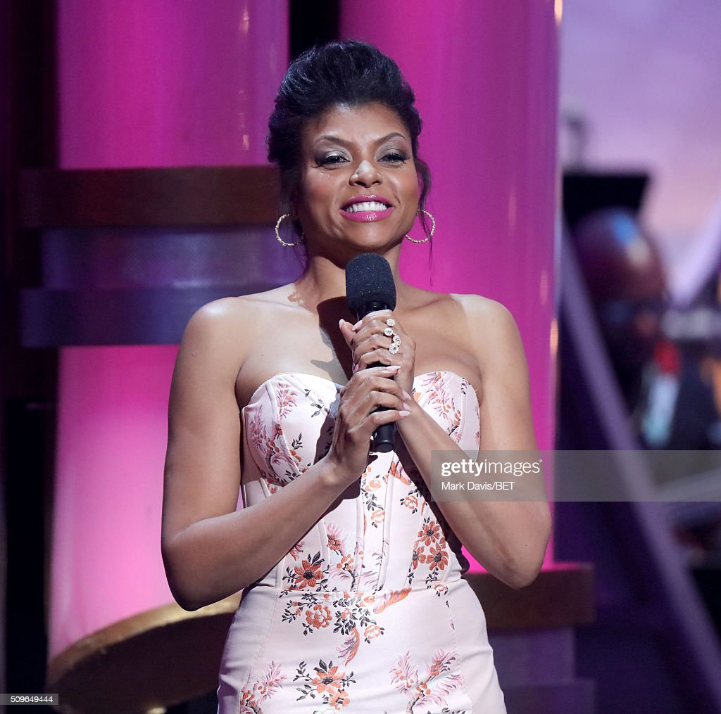Host Taraji P Henson speaks onstage during BET Celebration Of Gospel 2016 at Orpheum Theatre on January 9 2016 in Los Angeles California