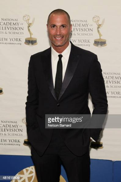 Host The Face The Oxygen Network Nigel Barker arrives at the 57th Annual New York Emmy awards at Marriott Marquis Times Square on March 30 2014 in...