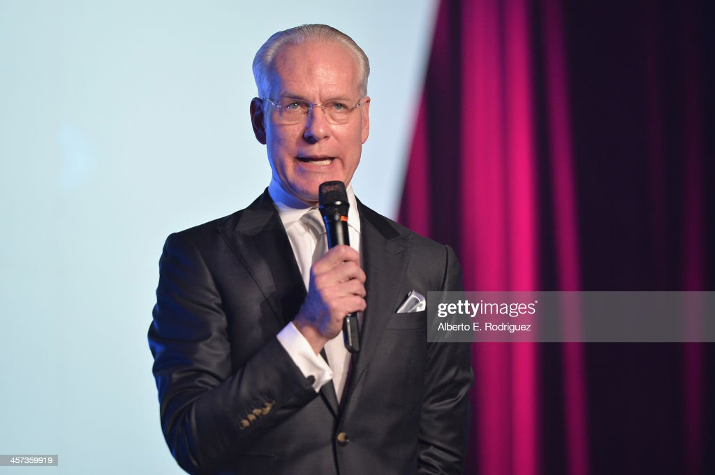TV host <a gi-track='captionPersonalityLinkClicked' href=/galleries/search?phrase=Tim+Gunn&family=editorial&specificpeople=696109 ng-click='$event.stopPropagation()'>Tim Gunn</a> attends the 'Under The Gunn' Finale Fashion Show at Los Angeles Theatre on December 16, 2013 in Los Angeles, California.