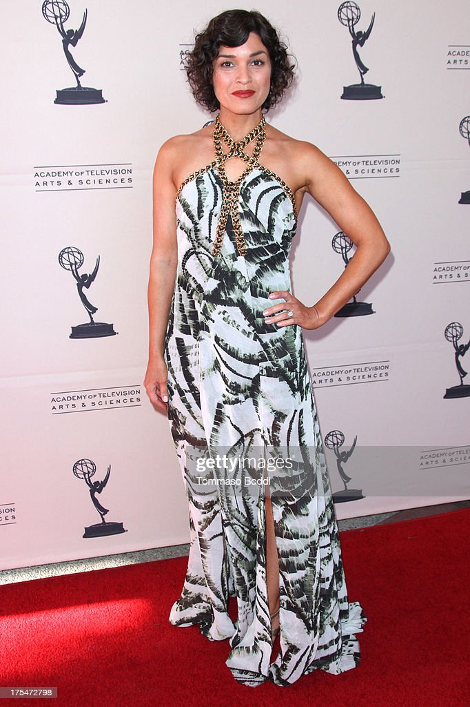 TV host Tina Malave attends the Academy Of Television Arts & Sciences 65th Los Angeles Area EMMY Awards held at the Leonard H. Goldenson Theatre on August 3, 2013 in North Hollywood, California.