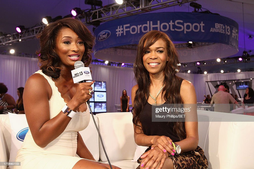 Host <a gi-track='captionPersonalityLinkClicked' href=/galleries/search?phrase=Toccara+Jones&family=editorial&specificpeople=2253497 ng-click='$event.stopPropagation()'>Toccara Jones</a> and recording artist Michelle Williams attend Hot Spot Room Day 2 during the 2013 BET Awards at L.A. LIVE on June 29, 2013 in Los Angeles, California.