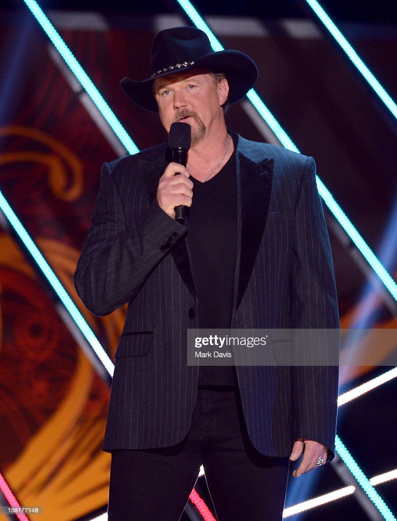 Host Trace Adkins speaks onstage during the 2012 American Country Awards at the Mandalay Bay Events Center on December 10, 2012 in Las Vegas, Nevada.