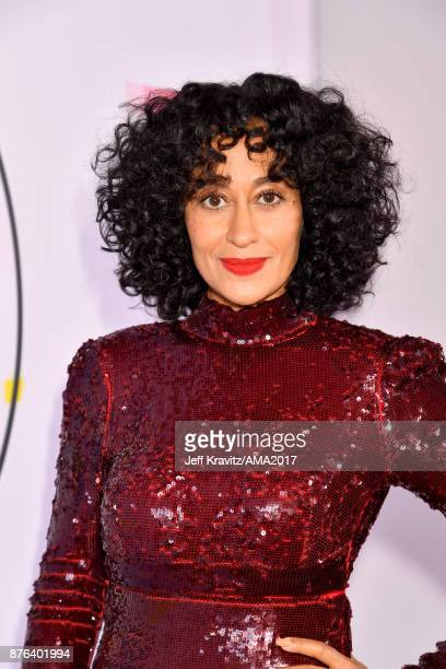 Host Tracee Ellis Ross attends the 2017 American Music Awards at Microsoft Theater on November 19 2017 in Los Angeles California