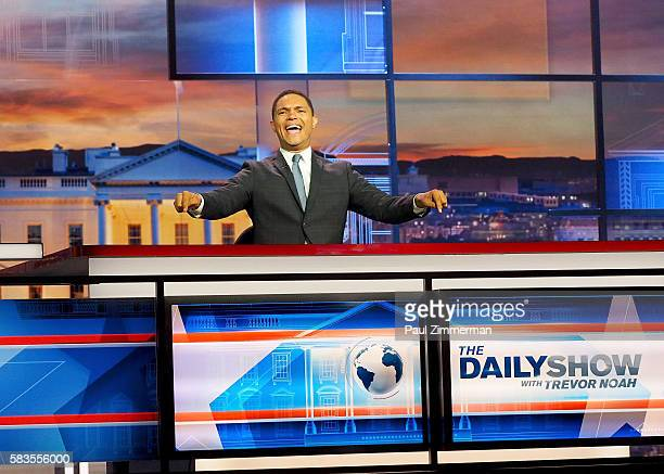 "Host Trevor Noah ""The Daily Show with Trevor Noah Presents The 2016 Democratic National Convention Let's Not Get Crazy"" speaks from the Annenberg..."