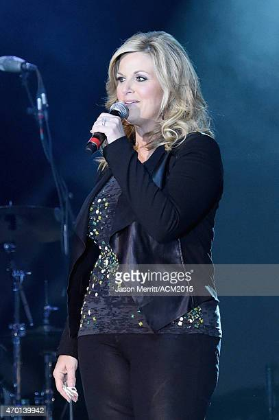 Host Trisha Yearwood speaks onstage during the ACM Lifting Lives Gala at the Omni Hotel on April 17 2015 in Dallas Texas