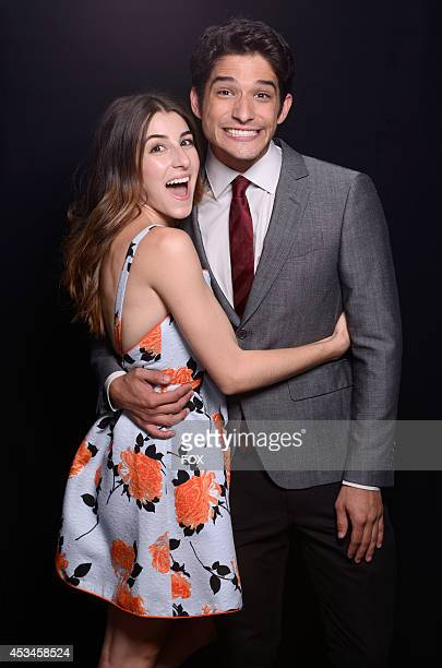 Host Tyler Posey and makeup artist Seana Gorlick pose for a portrait during the FOX 2014 Teen Choice Awards at The Shrine Auditorium on August 10...