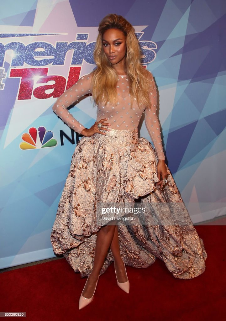 Host Tyra Banks attends NBC's 'America's Got Talent' season 12 finale at Dolby Theatre on September 20, 2017 in Hollywood, California.