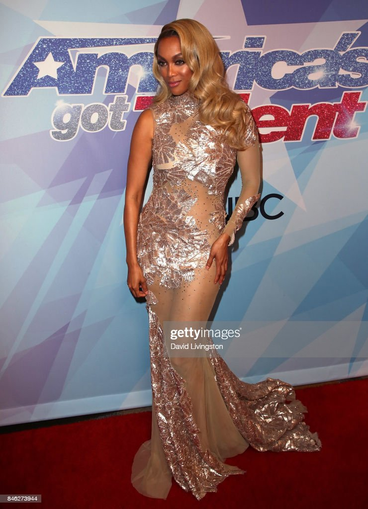 Host Tyra Banks attends NBC's 'America's Got Talent' Season 12 live show at Dolby Theatre on September 12, 2017 in Hollywood, California.