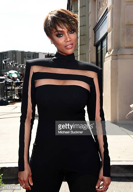 Host Tyra Banks attends The 42nd Annual Daytime Emmy Awards at Warner Bros Studios on April 26 2015 in Burbank California