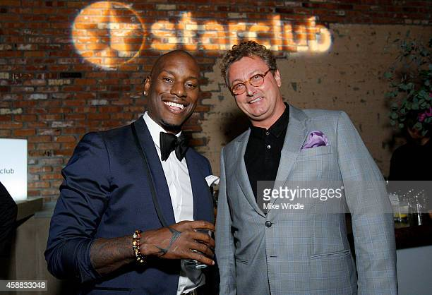 Host Tyrese Gibson and Founder and CEO of StarClub Bernhard Fritsch attend StarClub Inc's Private Party hosted by Tyrese Gibson on Tuesday November...